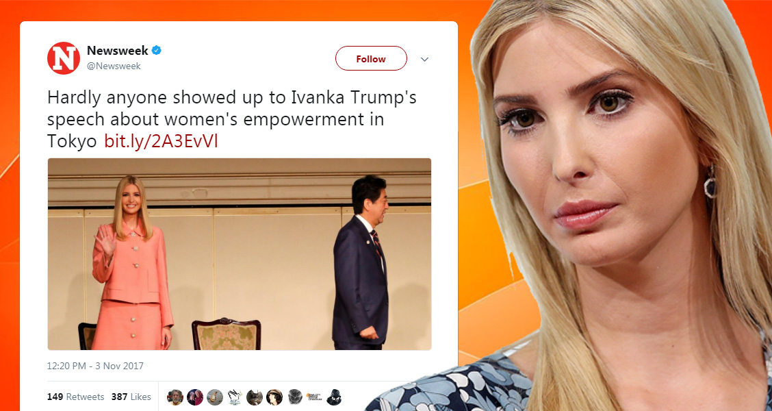 Empty Seats Greet Ivanka Trump's Speech On Women's Rights