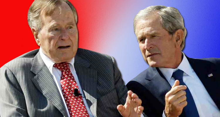 War Ignites Between The Trump White House And Former Presidents George W. And George HW Bush
