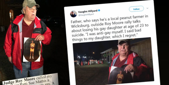 Heartbreaking Video Of Father Protesting Roy Moore Takes Twitter By Storm