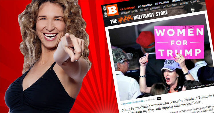 Breitbart's Pathetic Attempt To Counter The Success Of The Women's March 2018
