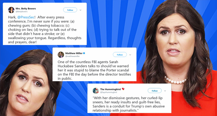 Twitter Is Merciless As It Responds To Sarah Huckabee Sanders' Latest Lie
