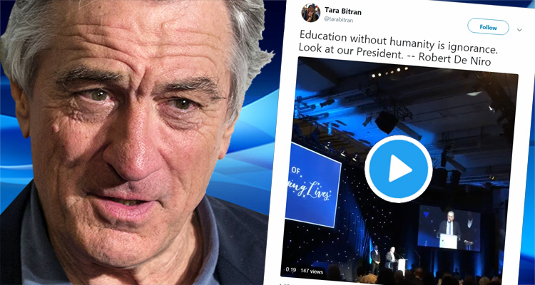 Watch Robert De Niro Drop An Atomic Bomb On 'Spoiled Idiot' Trump At Charity Event – Video