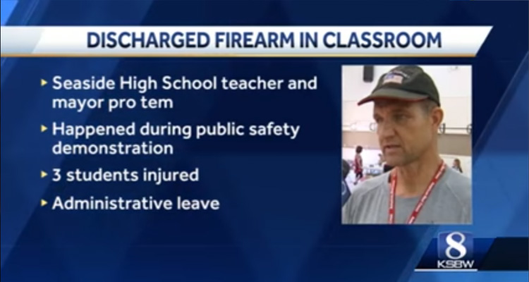 Teacher Accidentally Fires Gun In Class While Teaching Gun Safety – Video