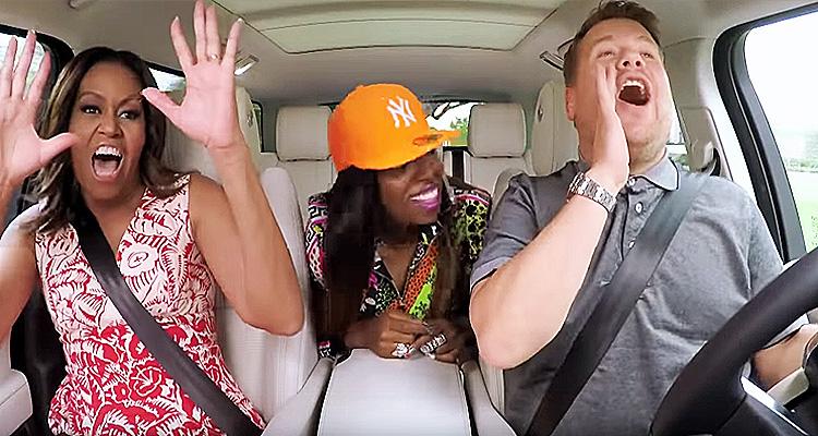 Watch Michelle Obama Get Her Freak On With Missy Elliott And James Corden In Carpool Karaoke
