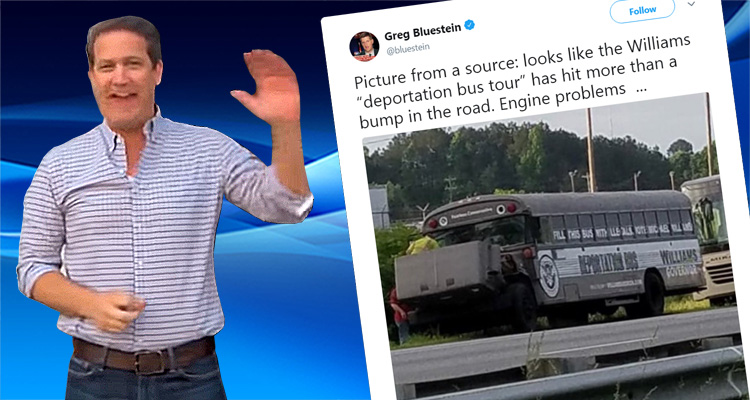 Crazed Conservative's Bus Breaks Down During His 'Deportation Bus Tour' Attacking Undocumented Immigrants
