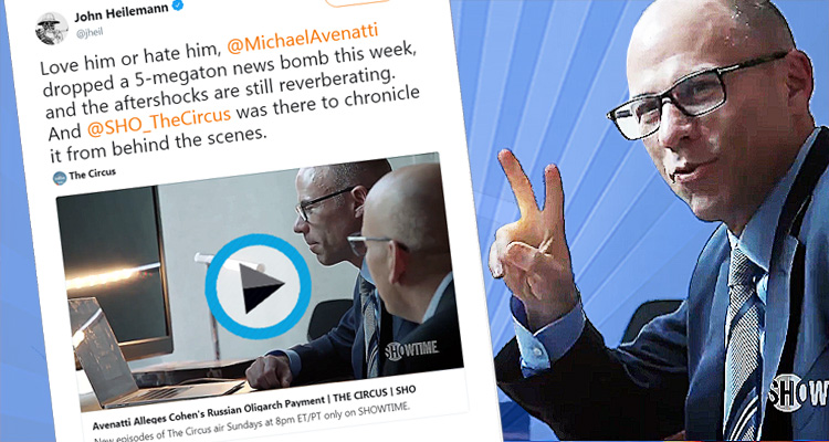 Behind The Scenes Video Shows Michael Avenatti Dropping His 5-Megaton Bomb On Team Trump Live – Video