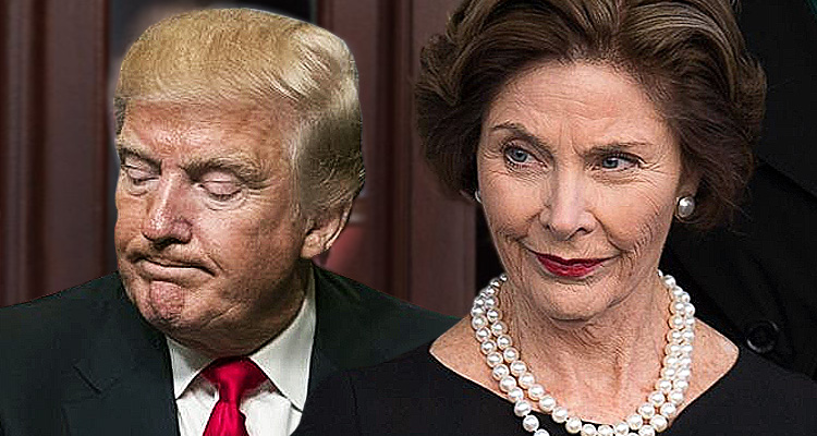 Laura Bush Tears Into Trump For His Cruelty
