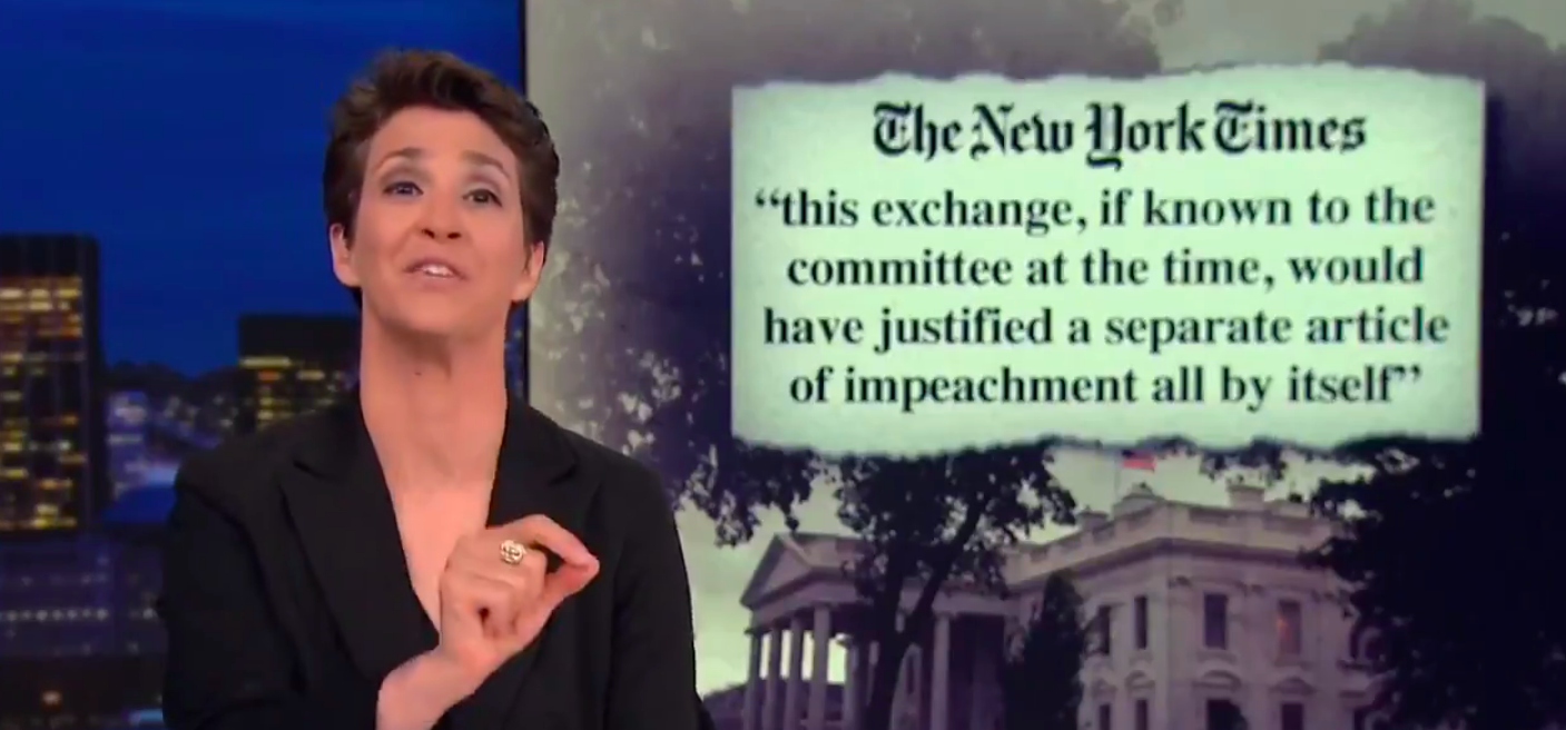 Maddow: Trump's Brazen Use Of Pardons Might Be 'Criminal Obstruction Of Justice'