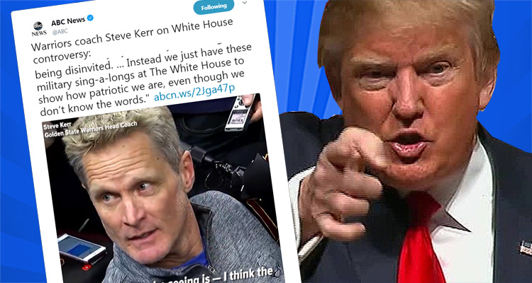 Watch Warriors Coach Steve Kerr Trash Trump For His Fake Patriotism – Video