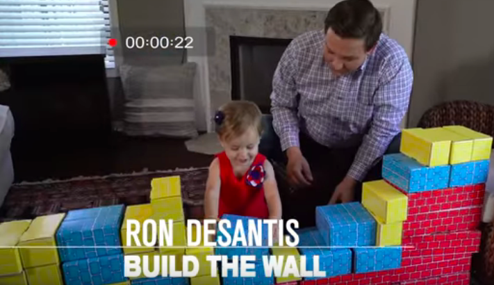 Disturbing Ad Features GOP Candidate Teaching His Child to 'Build A Wall' With Blocks – Video