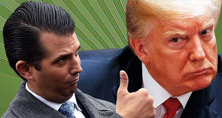 Trump Casually Tosses His Son Under The Bus In A Brazen Effort To Look Good