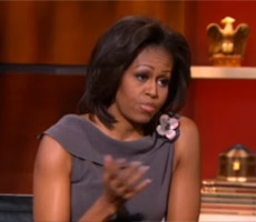 First Lady Michelle Obama on Colbert Nation
