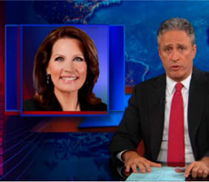 Smear and Loathing – Jon Stewart takes on Michele Bachmann