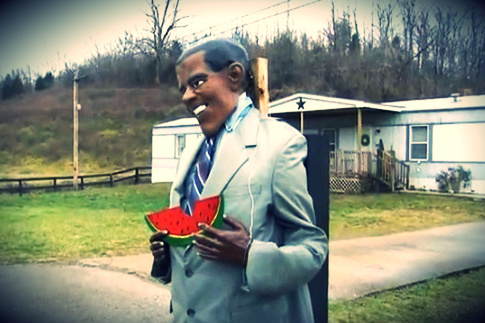 Obama Watermelon Statue 'Not Racist,' Says Owner (VIDEO)