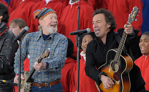 Here's Pete Seeger Doing What He Does Best…With Bruce Springsteen