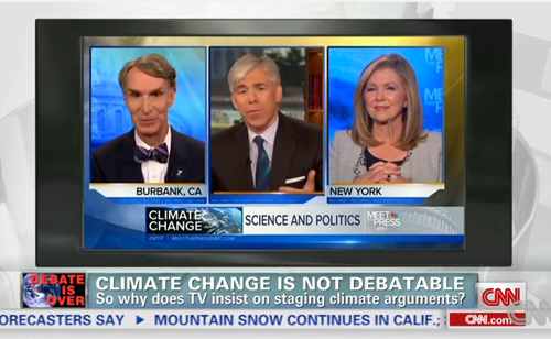 Climate Change Is Not Debatable. Why Does TV Give Equal Time To The 'Other Side'? (VIDEO)