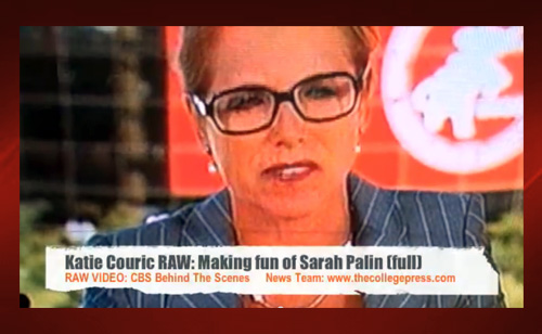 Leaked Footage Of Katie Couric Making Fun Of Sarah Palin (VIDEO)