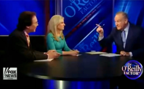 Fist Pounding Shouting Match Between Bill O'Reilly And Alan Colmes (VIDEO)
