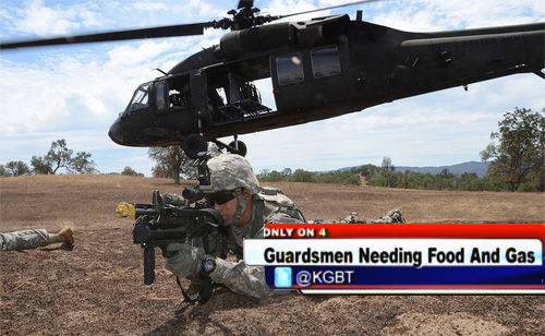 National Guard Troops Dispatched By Rick Perry Forced To Seek Assistance From Local Food Banks