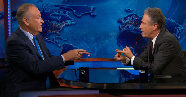 Bill O'Reilly  And Jon Stewart Clash Over 'White Privilege' (VIDEO)