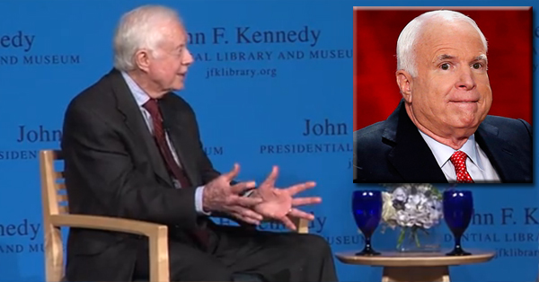 Jimmy Carter Slams John McCain, Calling Him A 'Warmonger' – VIDEO