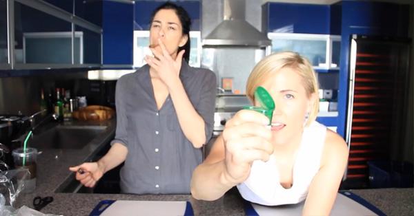 Sarah Silverman Gets High And Makes Veggie Pot Pie – VIDEO