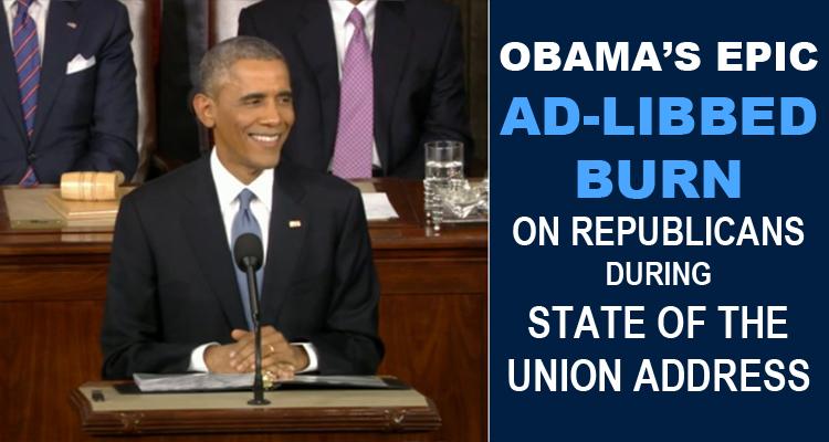 Obama's Epic Ad-Libbed Burn On Republicans – #IWonBothOfThem (VIDEO)