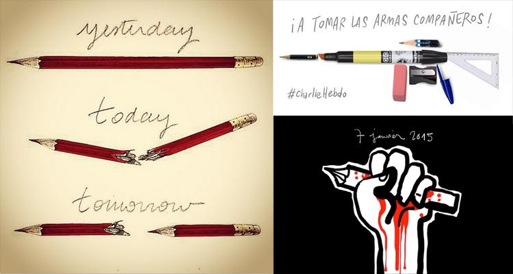 Cartoonists Worldwide Create Tribute Drawings For Slain Paris Journalists