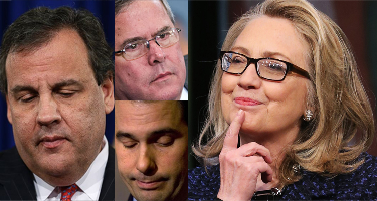 Clinton Clobbers Christie, Other GOP Hopefuls In New Jersey Matchups – New Poll