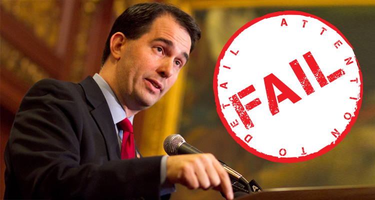 Scott Walker Under Fire From Conservatives After Checking His Spine