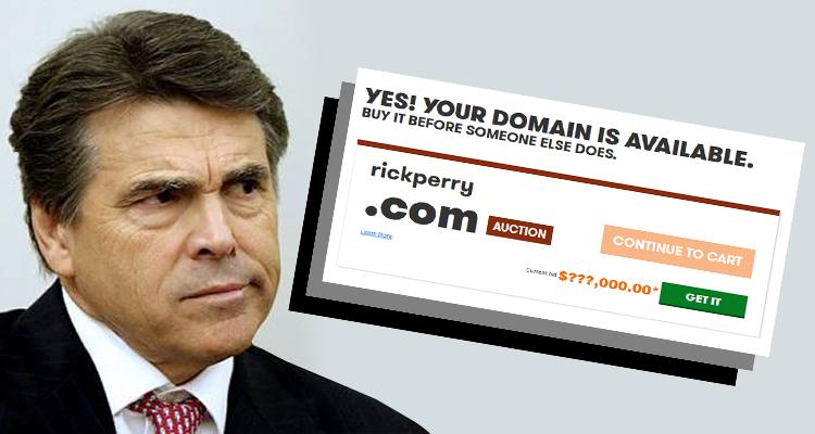 Bidding War Over RickPerry.com