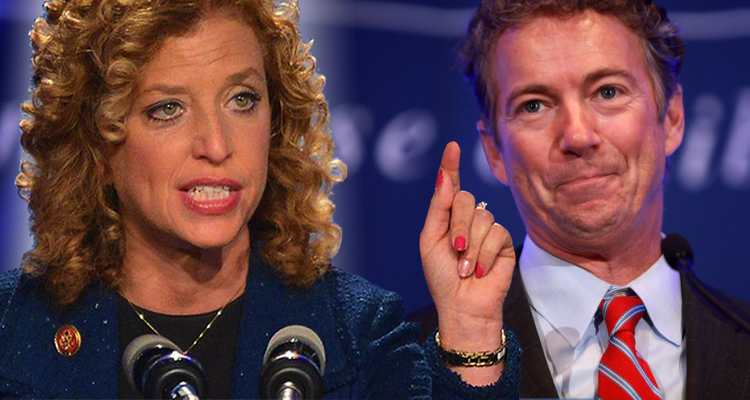 Debbie Wasserman Schultz Slams Rand Paul, 'He's More Out Of Touch Than I Thought'