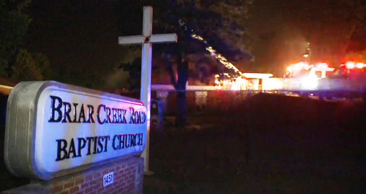 Arsonist Targets Black Church In Charlotte, NC, Deliberately Setting It Ablaze – VIDEO