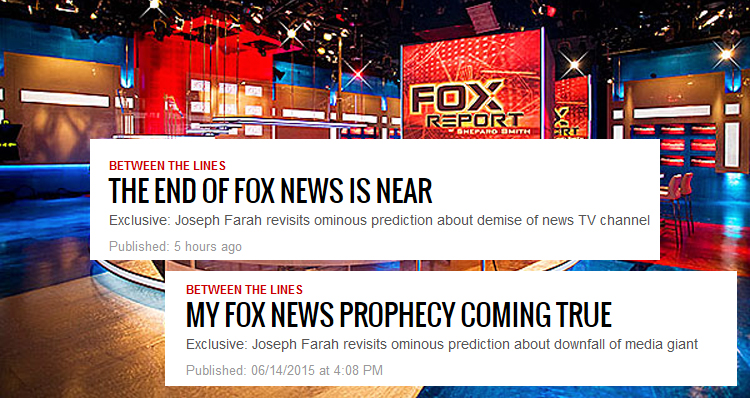 'The End Of Fox News Is Near' According To Ultra-Conservative Website