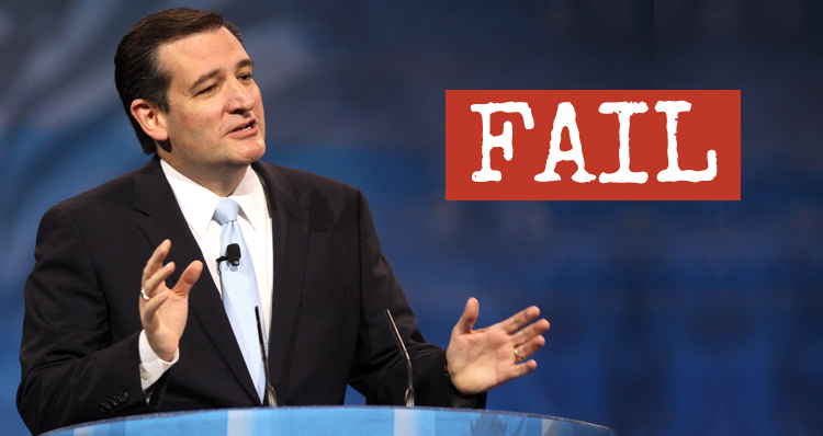 Ted Cruz's Stunning Record Of Failure, Rejection And Scorn