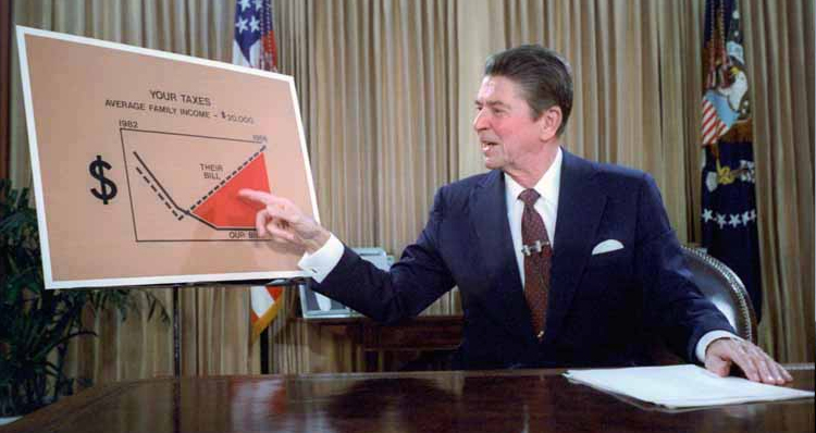 Ronald Reagan's Racially Motivated Speeches And Tax Cuts (Video)