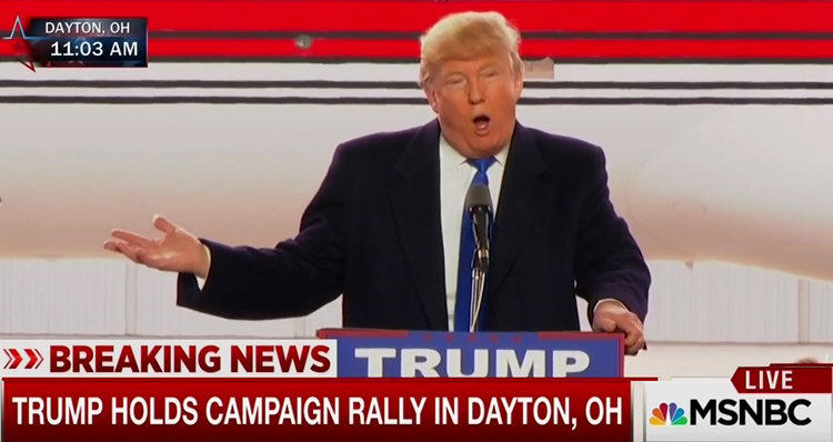 Trump Blames Bernie Sanders For Violence At Chicago Rally Last Night – Video
