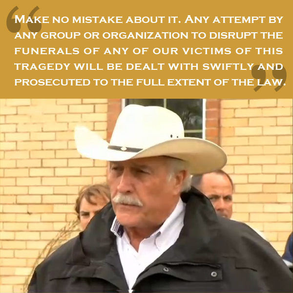 The Westboro Baptist Church get bested by a tough Texas sheriff.
