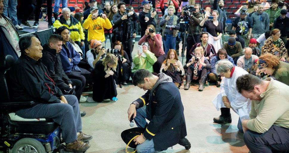 Veterans At Standing Rock Beg Forgiveness For War Crimes Against Tribal Nations