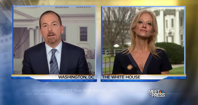 Chuck Todd Obliterates Kellyanne Conway After She Threatens The Media- Video