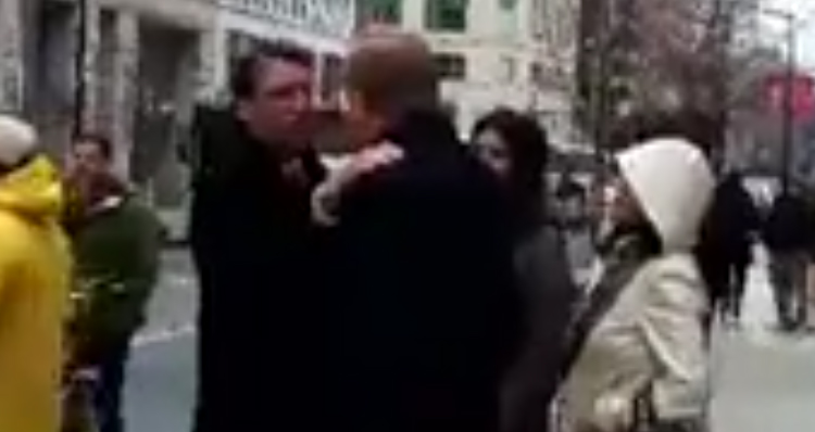Angry Protesters Chase Pat McCrory And Lou Dobbs Shouting 'Shame On You' – Video