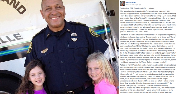 Former Police Chief's Blistering Post About His 'Unreasonable Detention' At JFK Airport
