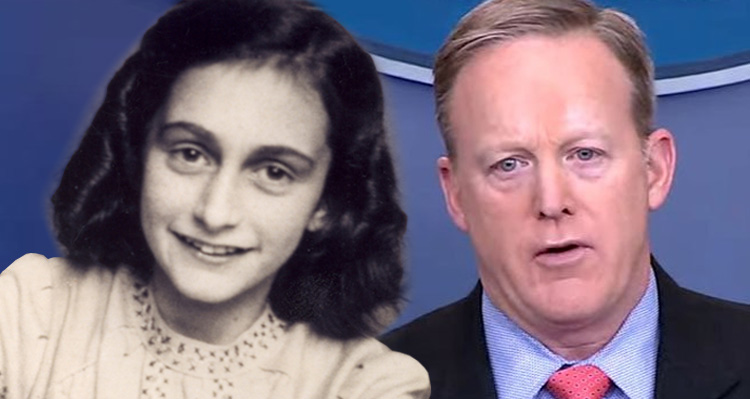 Anne Frank Center Launches Twitter War On Sean Spicer