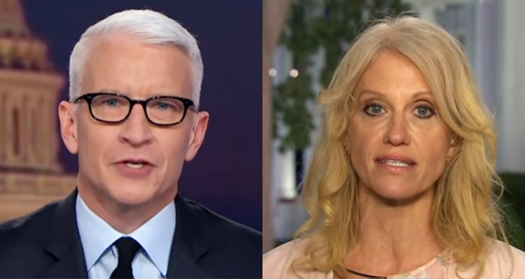 Watch Anderson Cooper Rolling His Eyes While Sparring With Kellyanne Conway – Video