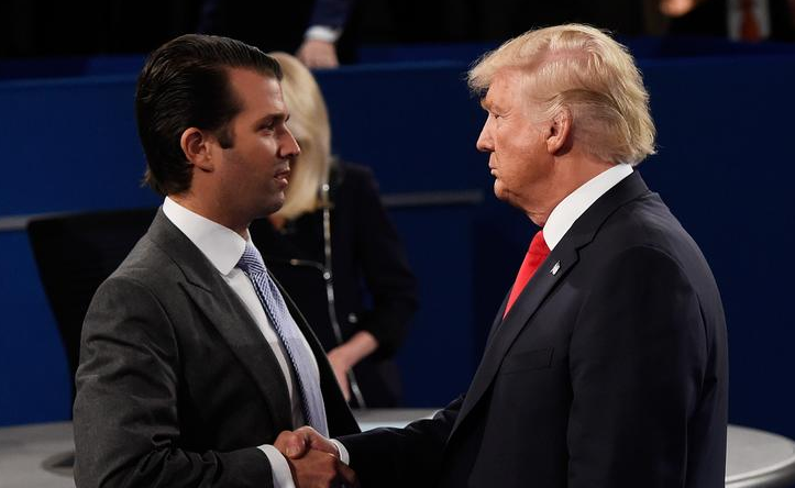 That Time TrumpKnockedHis Son To The Ground InFront Of A Crowd Of Onlookers