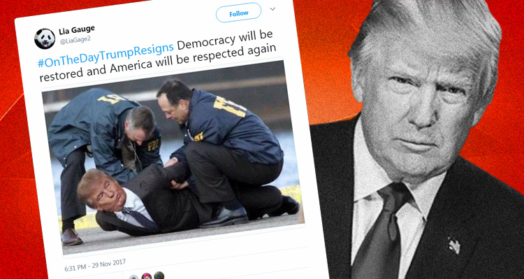 Twitter Delivers A Knockout Blow To Trump With #OnTheDayTrumpResigns
