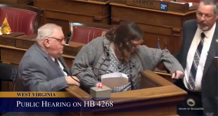 Watch W. Virginia Lawmakers Drag Woman From House Floor For Reading List Of Oil And Gas Donations To Members