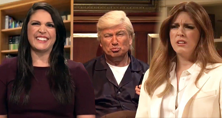SNL Spoofs A Stressed Out Melania Trump, Interviews Hope Hicks, And Baldwin's Trump Returns  – Video