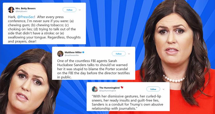 Twitter Is Merciless As It Responds To Sarah Huckabee Sanders' Latest Lie