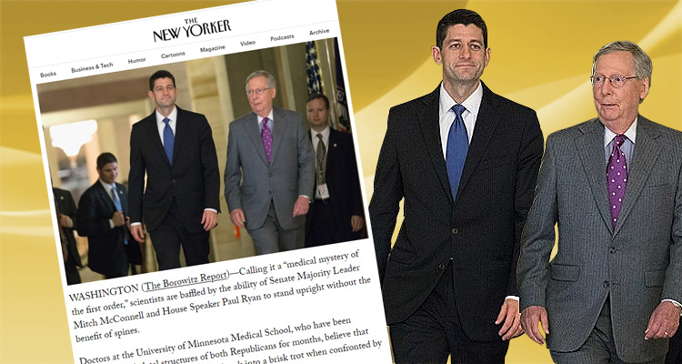 The New Yorker Trolls 'Medical Mysteries' Paul Ryan And Mitch McConnell
